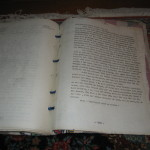 Last page of novel